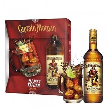 Captain Morgan Spiced Gold Set 0,7l mit Glaskrug