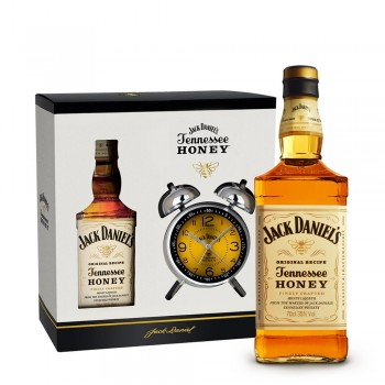 Jack Daniel's Honey Set mit Wecker 0,7l
