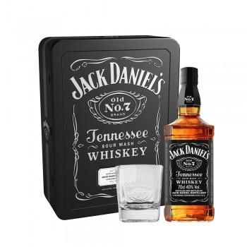 Jack Daniel's OLD NO. 7 Whiskey Set mit 2 Gläser Metalbox