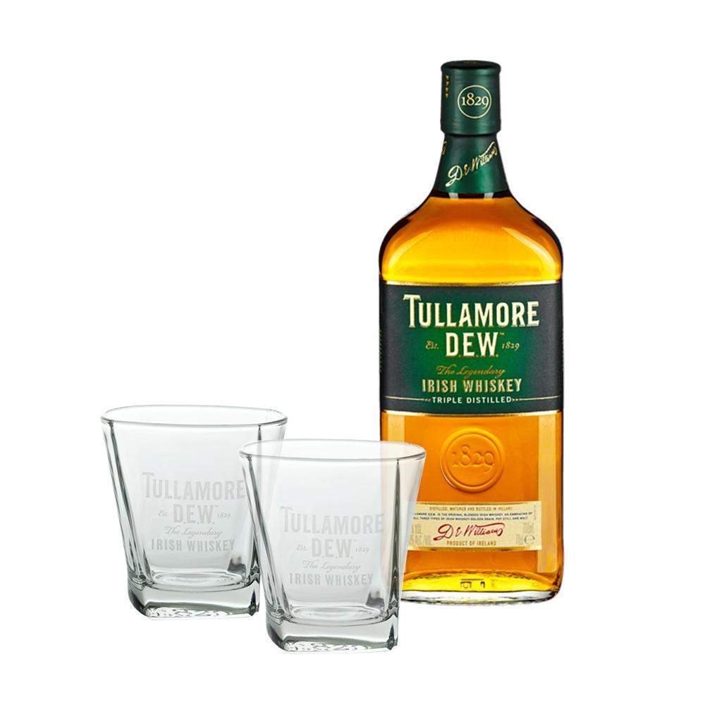 tullamore dew 0 7 liter irish whiskey mit gl ser. Black Bedroom Furniture Sets. Home Design Ideas