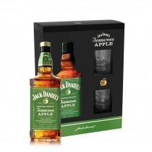 Jack Daniels Apple Geschenkbox mit zwei Gläser