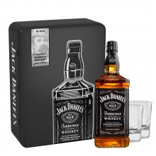 Jack Daniel's in Metallbox mit 2 Whiskygläser