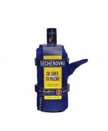 Becherovka 0,5l mit Handschuh