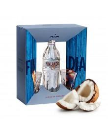 Finlandia Geschenkset - Coconut mit 2 Gläser
