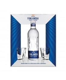 Finlandia Vodka Geschenkset  mit 2 Gläser