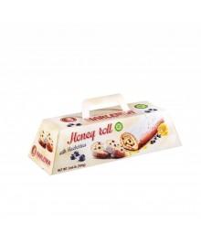 MARLENKA Honig-Roulade mit Heidelbeeren