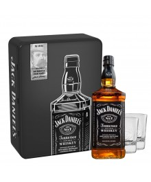 Jack Daniel's in Metallbox mit 2 Whiskygläser