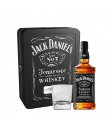 Jack Daniel's OLD NO. 7 Whiskey Set mit 2 Gläser Metalbox