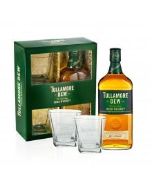 Tullamore Dew 0,7 Liter Irish Whiskey mit Gläser Geschenkset